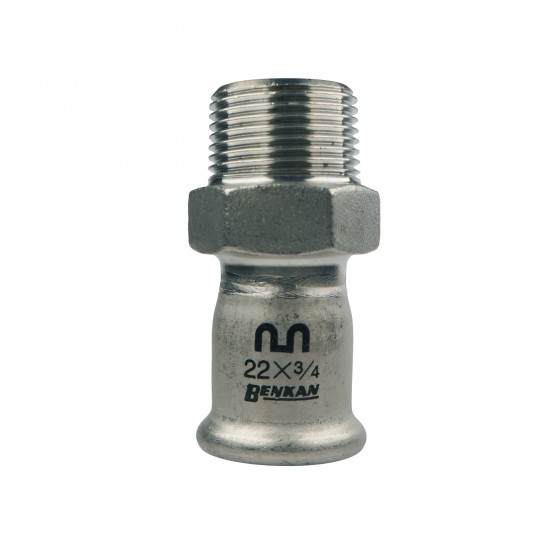 Benkan Straight Adaptor with BSP tapered thread (Male)