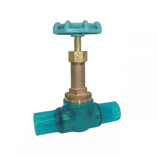 Yamato B10ESGN Bronze Gate Valve with Clear PVC Fitting